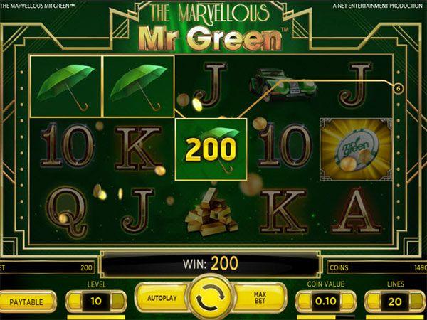 Mr Green casino kolikkopelit