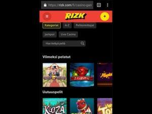 rizk-casino-mobiili
