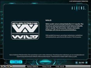 aliens-kolikkopeli-wildit
