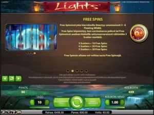 lights-kolikkopeli-ilmaiskierrokset