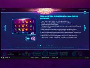 sparks-kolikkopeli-tietoa