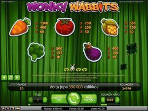 wonky-wabbits-voittotaulukko