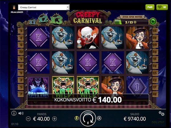 comeon-casino-kolikkopeli-voitto