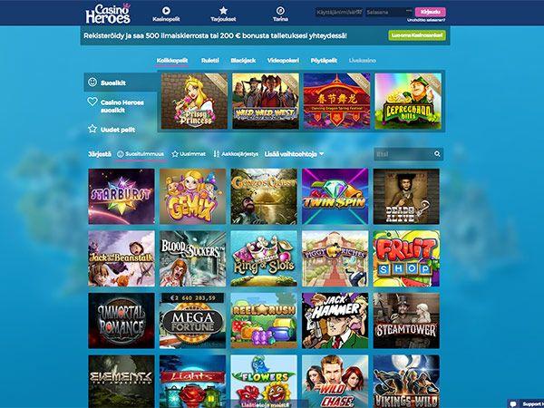 casino-heroes-pelivalikoima