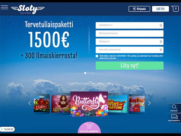 sloty-casino-tervetuliaispaketti-etusivu