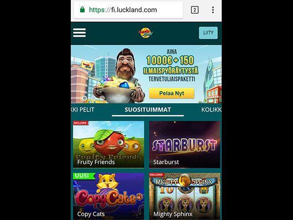 Luckland casino mobiili