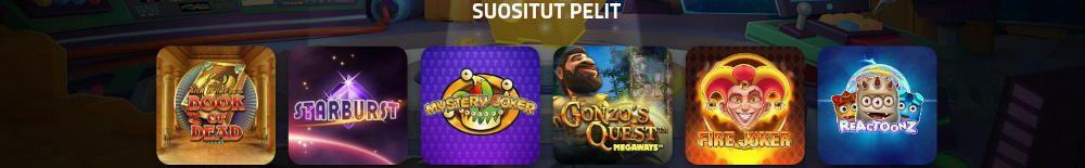 LuckyDino Casino pelit