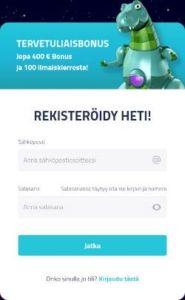 LuckyDino Casino rekisteröinti