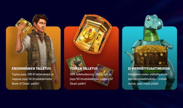 LuckyDino Casino bonukset