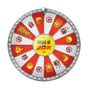 Wheel of Rizk casino onnenpyörä