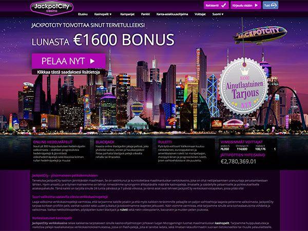 Jackpot City Casino etusivu bonukset