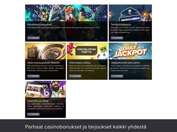 CasinoEuro kampanjat