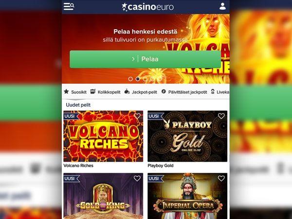 CasinoEuro mobiili