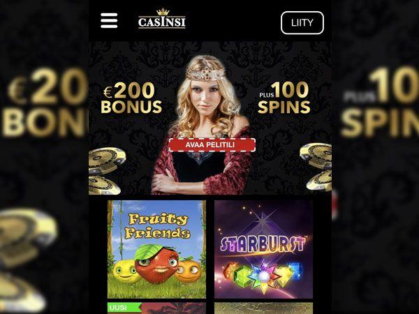 Casinsi Casino mobiili