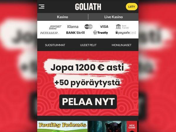 Goliath Casino mobiili