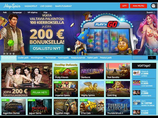 heyspin-casino-etusivu