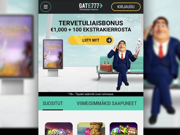 Gate 777 Casino mobiili