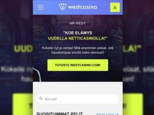 WestCasino mobiili