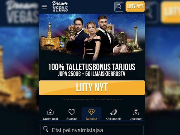Dream Vegas casino mobiili