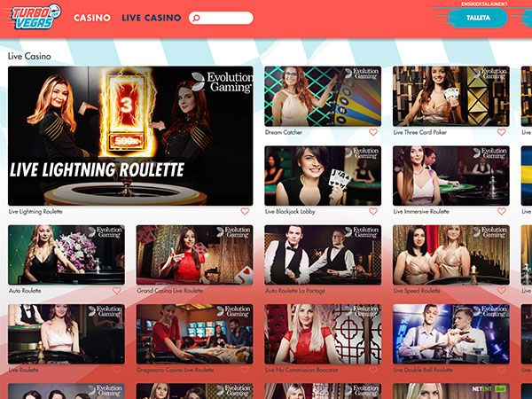TurboVegas casino live