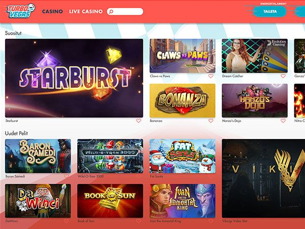 TurboVegas casino pelit