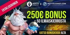 AHTI Games Casino eksklusiivinen bonus