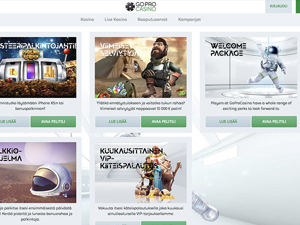 GoPro Casino kampanjat