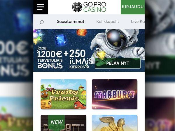 GoPro Casino mobiili
