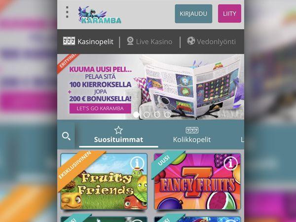 Karamba Casino mobiili