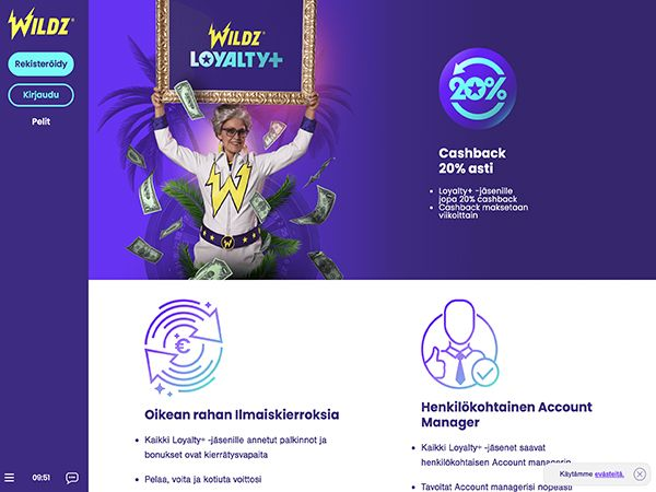 Wildz Casinon Loyalty+