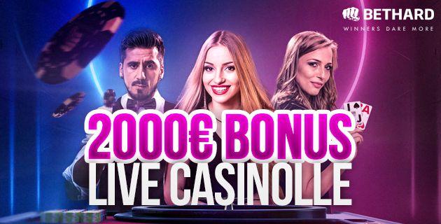 Bethardin Live Casino bonus