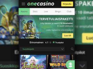 one-casino-mobiili