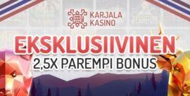 Karjala Kasinon eksklusiivinen bonus