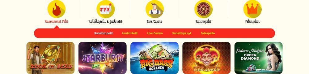 Kassu Casino pelit