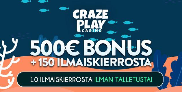 Craze Play Casino bonus