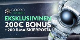 GoPro Casinon eksklusiivinen bonus