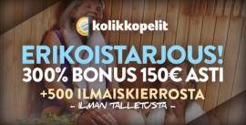 Kolikkopelit.com erikoistarjous
