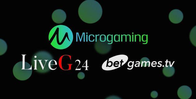 Microgaming, LiveG24 ja Betgames yhteistyö