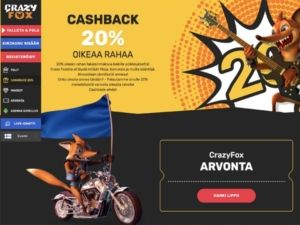 Crazy Fox Casino cashback