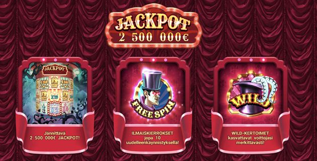 The Haunted Circus -kolikkopeli