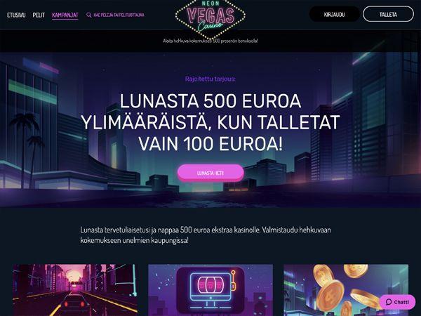 Neon Vegas Casino kampanjat