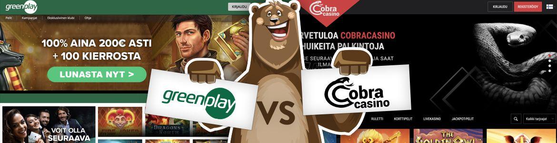 Vertaa nettikasinot: Greenplay ja Cobra