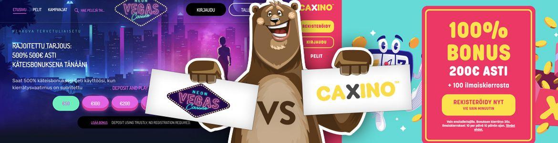 Neon Vegas ja Caxino Casino