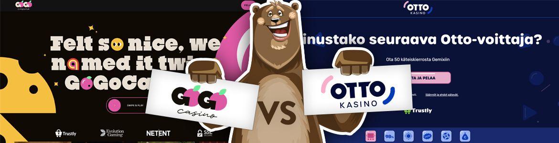 Vertaa nettikasinot: Otto ja Gogo
