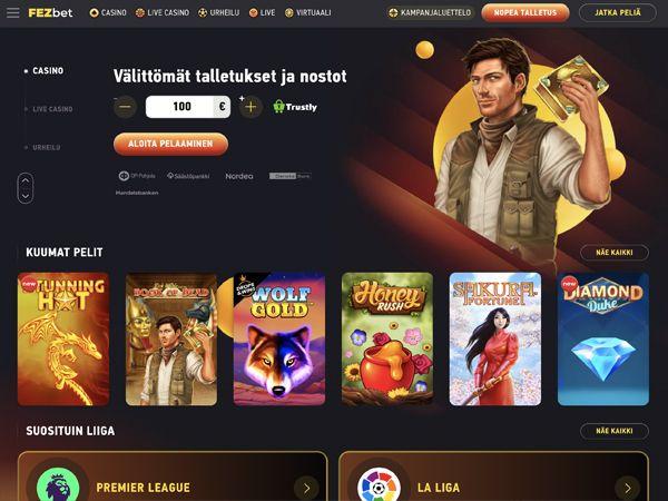 FEZbet Casino etusivu