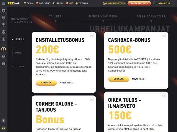 FEZbet Casino kampanjat