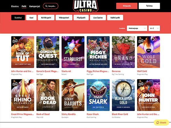 Ultra Casino pelit