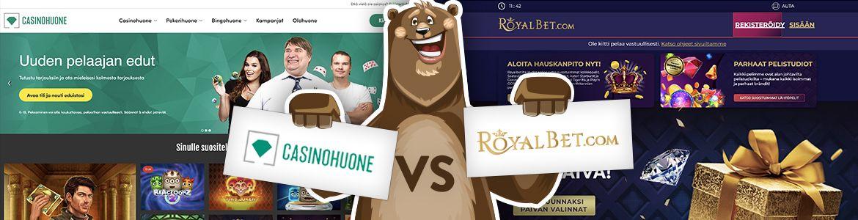 Vertaa nettikasinot: Royalbet nettikasino ja Casinohuone