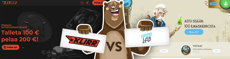 Klirr Casino vs Casino Lab