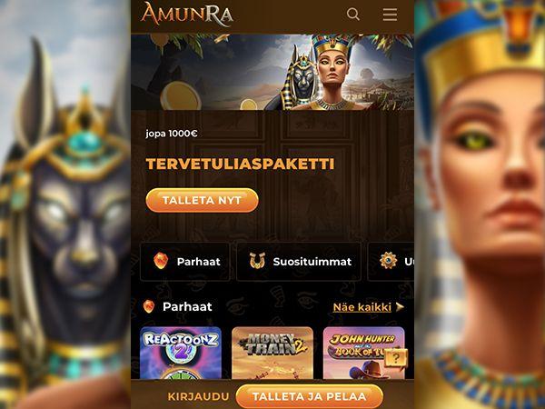 Amunra Casino mobiili